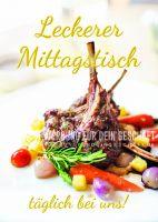 Leckerer Mittagstisch Poster | Werbe-Poster für Restaurant