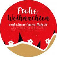 Rund   Frohe Weihnachten und einen Guten Rutsch Poster   für Plakatständer   Rundformat