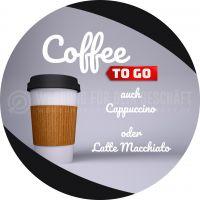 Rund | Coffee to go Plakat | Werbebanner Coffee to go | Rundformat