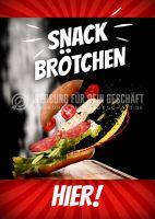 Snack Brötchen Poster | Werbetafel für Bäckerei