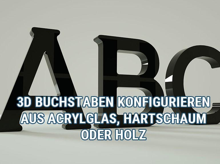 Buchstaben ABC als 3D Ansicht