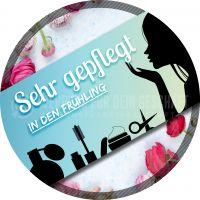 Rund | Sehr gepflegt in den Frühling Werbelakat | Banner für dein Kosmetikstudio | Rundformat