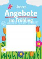 Unsere Angebote im Frühling Werbetafel | Poster für Plakatständer