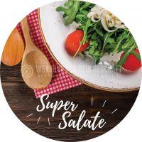 Rund | Super Salate Poster | Werbetafel für dein Geschäft | Rundformat