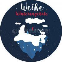 Rund   Weiße Winterangebote Poster   Plakate online drucken   Rundformat