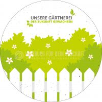 Rund | Unsere Gärtnerei Plakat | Werbeschild für Gärtnerei | Rundformat