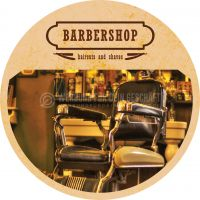 Rund | Barbershop Werbeplakat drucken | Poster auch in DIN A 0 | Rundformat