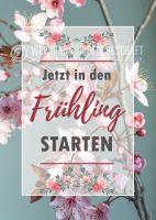 In den Frühling starten Poster | Werbetafel für Frühling