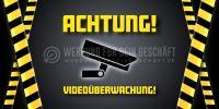 2:1 | Achtung Videoüberwachung Plakat | Poster kaufen | 2 zu 1 Format