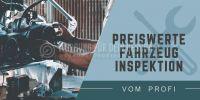 2:1 | Preiswerte Fahrzeug Inspektion Poster | Plakat auch in DIN A 0 | 2 zu 1 Format