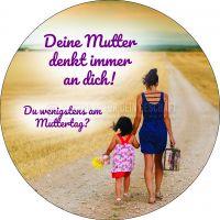 Rund | Muttertag Poster | Werbeschild für Muttertag | Rundformat
