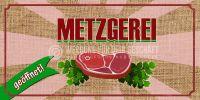 2:1 | Metzgerei Plakat | Werbetafel für Metzgereien | 2 zu 1 Format