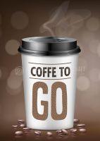 Coffee to go Werbeschild | Poster