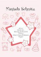 Willkommen Baby Mädchen Poster | Werbebanner