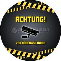 Rund | Achtung Videoüberwachung Plakat | Poster kaufen | Rundformat
