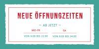 2:1 | Neue Öffnungszeiten Plakat | Werbeplakat für Geschäfte | 2 zu 1 Format