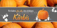 2:1 | Der richtige Kürbis Poster | Werbetafel zu Halloween | 2 zu 1 Format