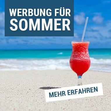 Werbung für den Sommer