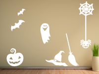 Halloweenset 2 Wandtattoo