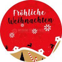 Rund   Fröhliche Weihnachten Plakatwerbung   Poster kaufen   Rundformat