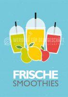 Frische Smoothies Plakat | Werbung für Plakatständer