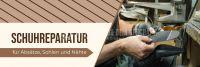 3:1 | Schuhreparatur Werbebanner | Werbeposter für Plakatständer | 3 zu 1 Format
