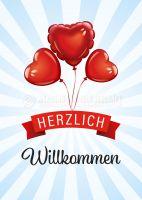 Herzlich Willkommen Werbeschild | Werbung für Plakatständer