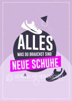 Neue Schuhe Poster | Werbebanner für Schuhgeschäfte