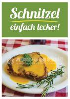 Schnitzel einfach lecker Poster | Werbetafel Schnitzel