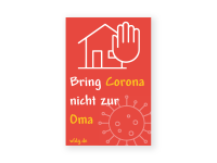 Corona nicht zur Oma Aufkleber | PVC-Plakat