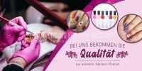 2:1 | Qualität zum fairen Preis Poster | Werbetafel für Nagelstudios | 2 zu 1 Format