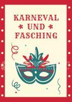 Karneval und Fasching Werbeposter | Werbeplakat auch in DIN A 4
