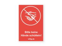 Keine Hände schütteln Aufkleber | PVC-Plakat
