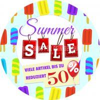 Rund | Summer Sale Plakat | Viele Artikel reduziert | Rundformat