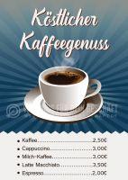 Köstlicher Kaffeegenuss Poster | Werbebanner für dein Cafe