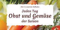 2:1 | Jeden Tag Obst und Gemüse Poster | Werbeposte für Hofladen | 2 zu 1 Format
