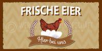 2:1 | Frische Eier Poster | Werbeschild für Eierverkäufer | 2 zu 1 Format