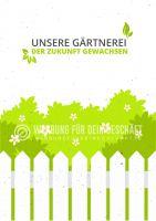 Unsere Gärtnerei Plakat | Werbeschild für Gärtnerei