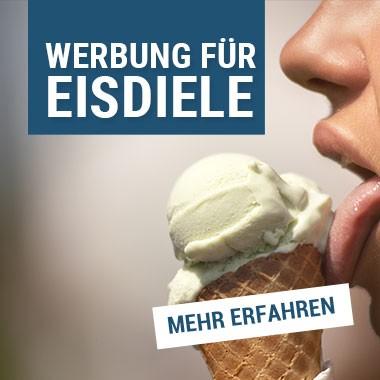 Werbung für die Eisdiele