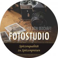 Rund | Fotostudio Plakat | Plakatwerbung für Fotostudios | Rundformat