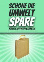 Schone die Umwelt Poster   Für Plakatständer