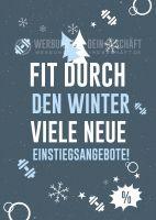 Fit durch den Winter Plakat | Werbeplakat für Fitnessstudios
