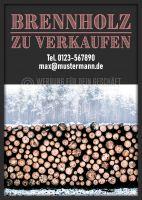 Brennholz zu verkaufen Poster | Plakat online drucken