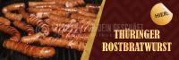3:1 | Thüringer Rostbratwurst - Hier! Werbebanner | Poster online drucken | 3 zu 1 Format