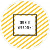 Rund | Zutritt verboten Hinweisaufkleber | Plakat online drucken | Rundformat