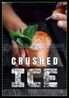 Crushed Ice Plakat | Werbetafel für Geschäft