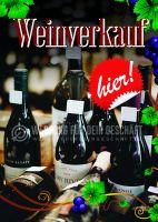 Weinverkauf Poster | Werbebanner für Wein