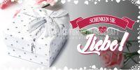 2:1 | Schenken Sie Liebe Poster | Werbebanner für Geschäfte | 2 zu 1 Format