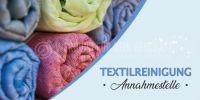 2:1 | Textilreinigung Annahmestelle Poster | Werbeplakat drucken lassen | 2 zu 1 Format
