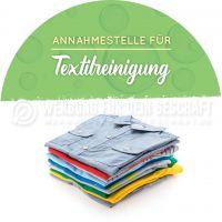 Rund | Annahmestelle für Textilreinigung Werbebanner | Poster für Reinigung | Rundformat